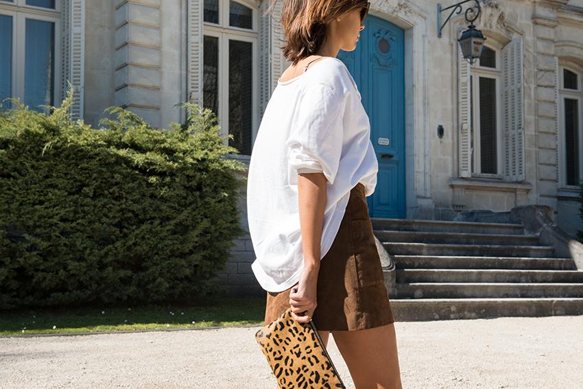 The Petticoat Cognac Mango Skirt and Vintage Blouse France Road Trip  (1)