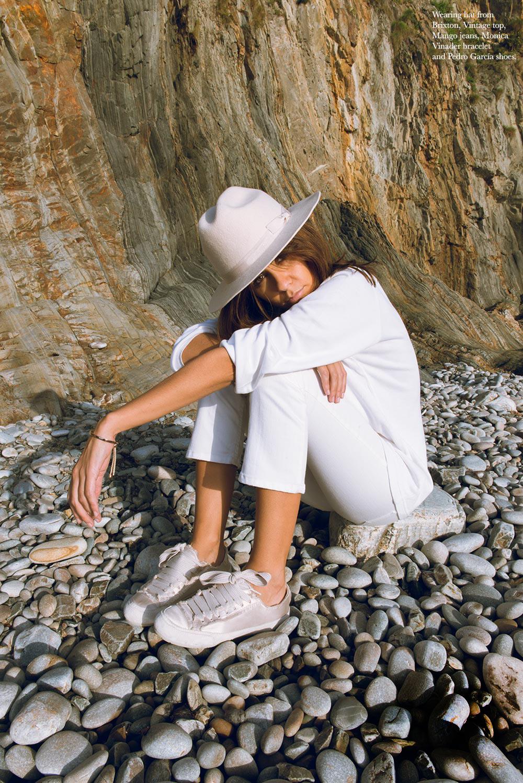 SILENCE-THE PETTICOAT-NATURE SERIES-Brixton hat- Pedro Garcias shoes,monica vinader bracelet-total white-1