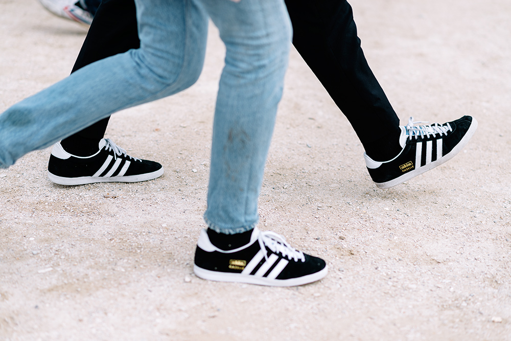Paris Fashion Week Streetstyle by The Petticoat -Adidas Gazelle Shoes PFW paris