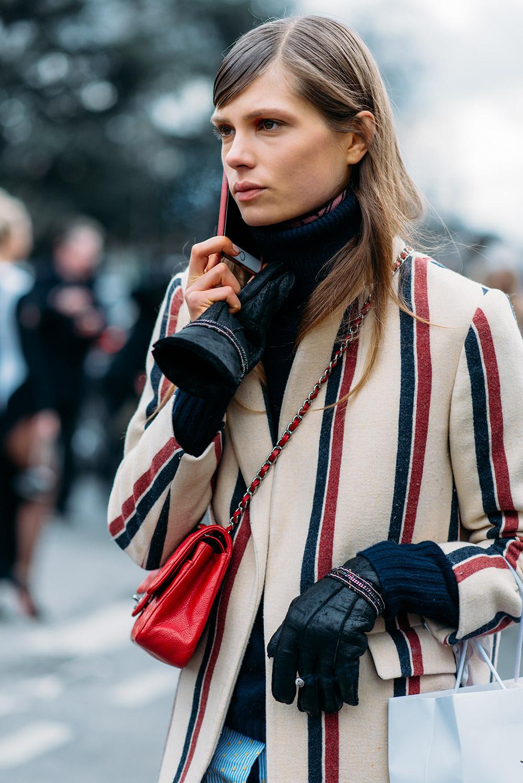 Paris Fashion Week Streetstyle by The Petticoat -Caroline Brasch model Grand Palais Paris PFW