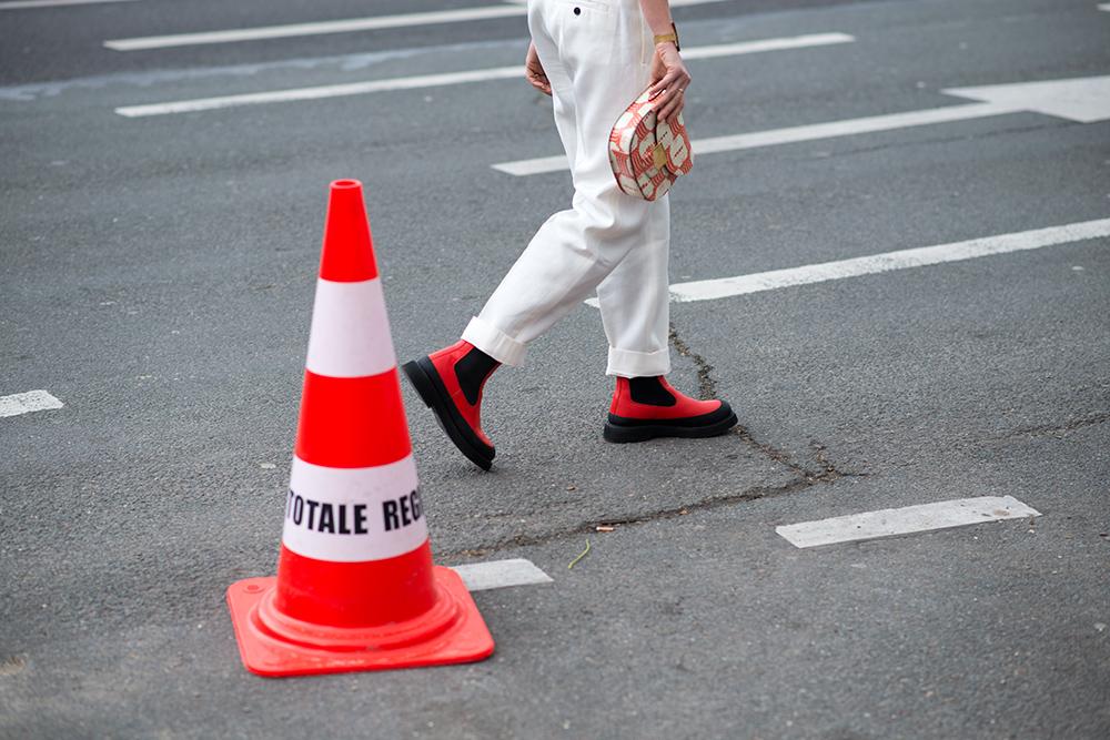 Paris Fashion Week Streetstyle by The Petticoat -Celine Boots before Celine Show Paris PFW