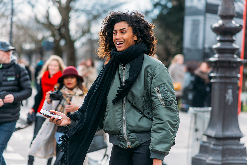 Paris Fashion Week Streetstyle by The Petticoat -Imaan Hammam Grand Palais Model Paris PFW