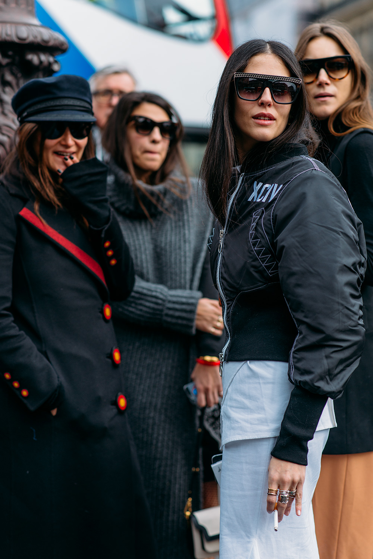 Paris Fashion Week Streetstyle by The Petticoat -Italian Crew Giorgia Tordini and Gilda Ambrosio Paris PFW