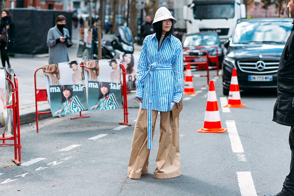 Paris Fashion Week Streetstyle by The Petticoat -Yoyo Cao before Celine Show Paris PFW