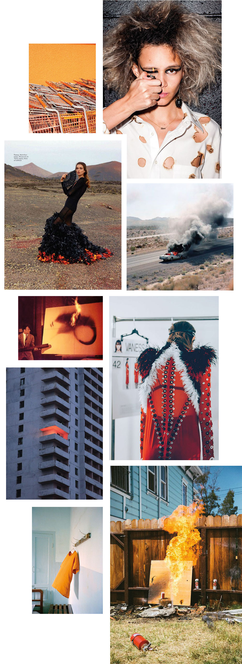 The Petticoat - Fire Inspiration Mood Board Mode Fashion --4