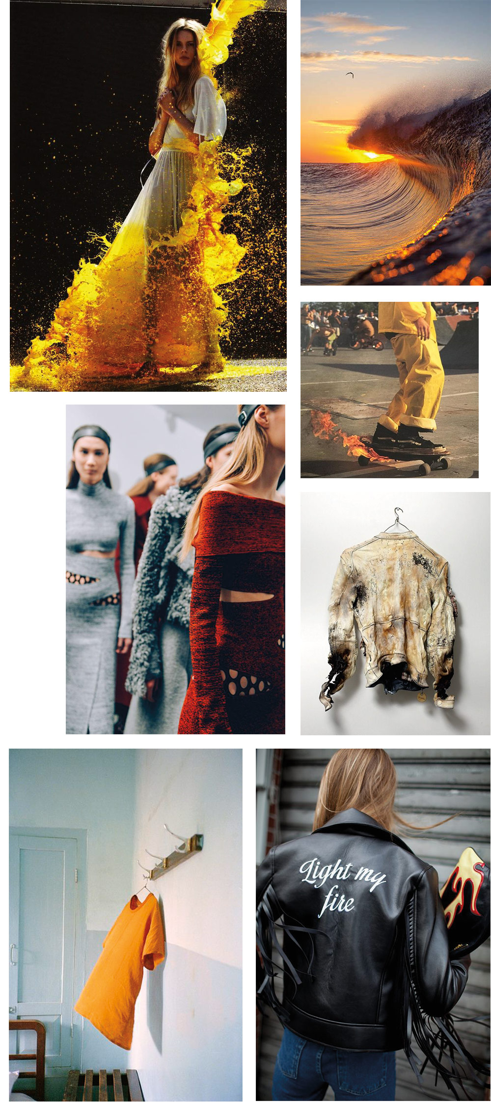 The Petticoat - Fire Inspiration Mood Board Mode Fashion --8