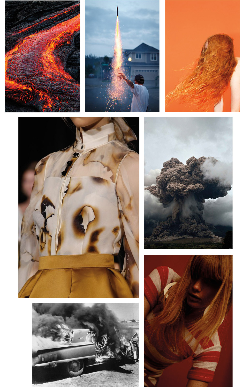 The Petticoat - Fire Inspiration Mood Board Mode Fashion --9