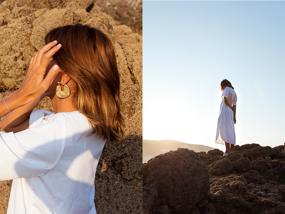 The Petticoat - White Dress Arnao Beach Rocks Summer And other Stories  (5)