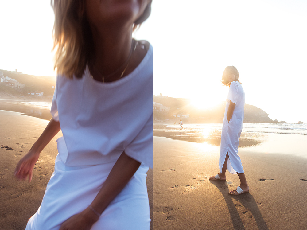 The Petticoat - White Dress Arnao Beach Rocks Summer And other Stories  (7)