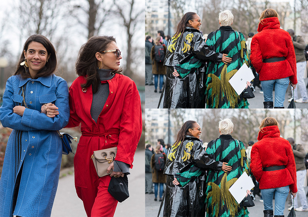 Streetstyle - Paris Fashion Week Fall17 for Glamour Spain by The Petticoat - Georgia tal-diletta bonaiutti - michelle elie after chanel show