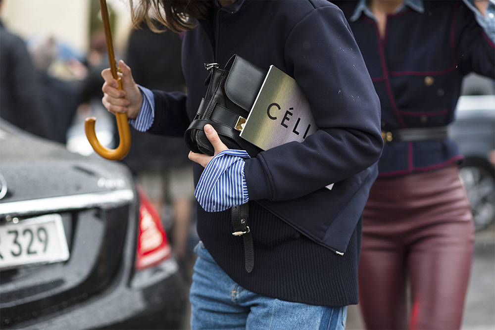 Streetstyle - Paris Fashion Week Fall17 for Glamour Spain by The Petticoat -After celine Show details