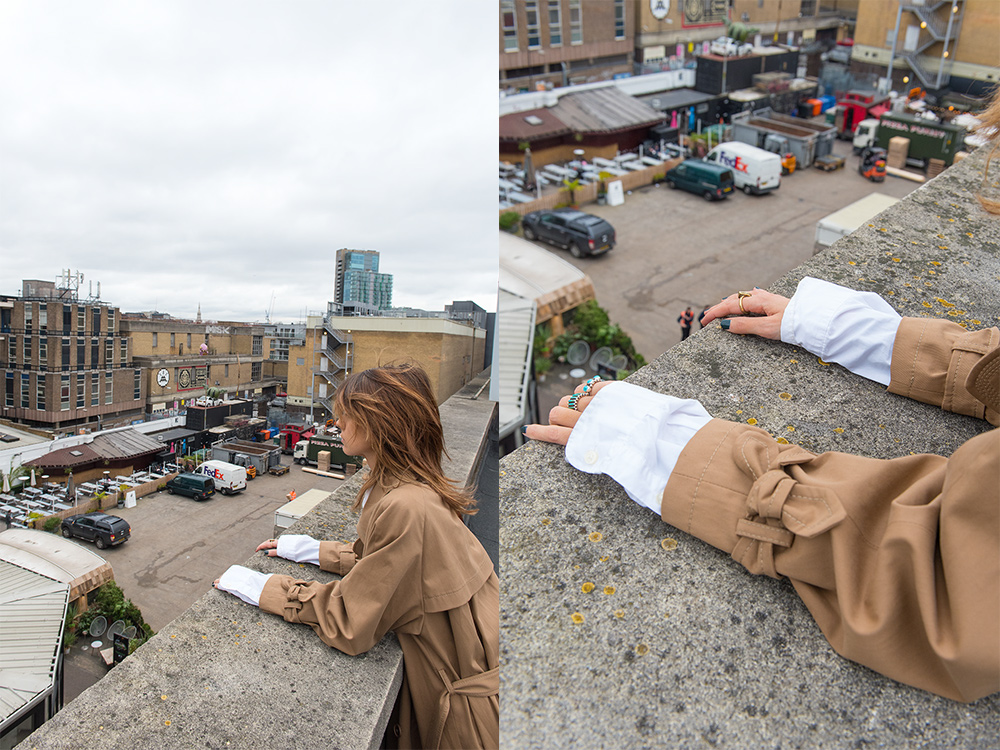 The Petticoat - London Fashion Week 17 -Photo Diary Rooftops of Shoreditch camel trench
